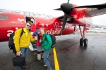 christophe gilbert boarding the plane toward sisimiut