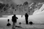 on the glacier
