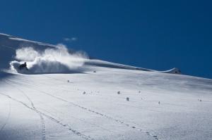 cosmique, chamonix, powder, ski , aiguille du midi