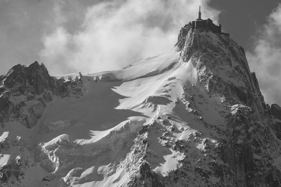 tom grant, aiguille du midi . north face, mallory