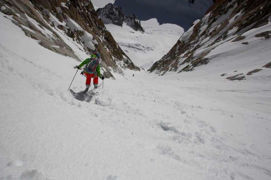 steep skiing, argentiere, chamonix
