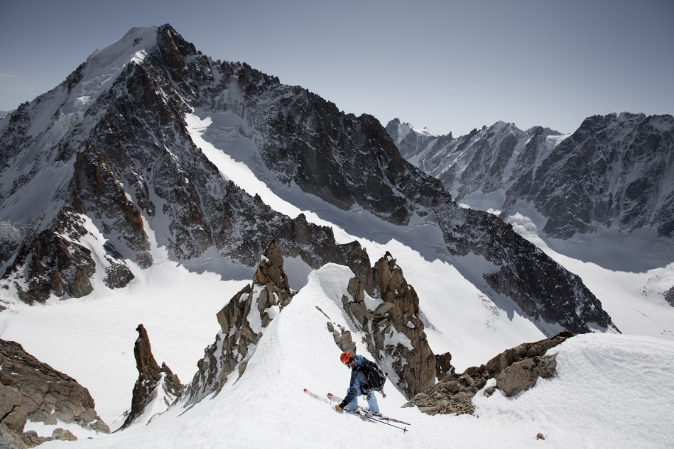 ross hewitt, chardonnet south face, mont blanc