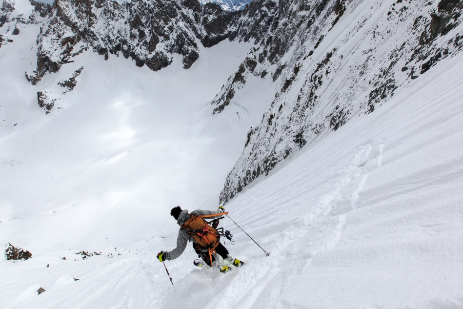 col des courte, mark shelp, steep skiing, chamonix