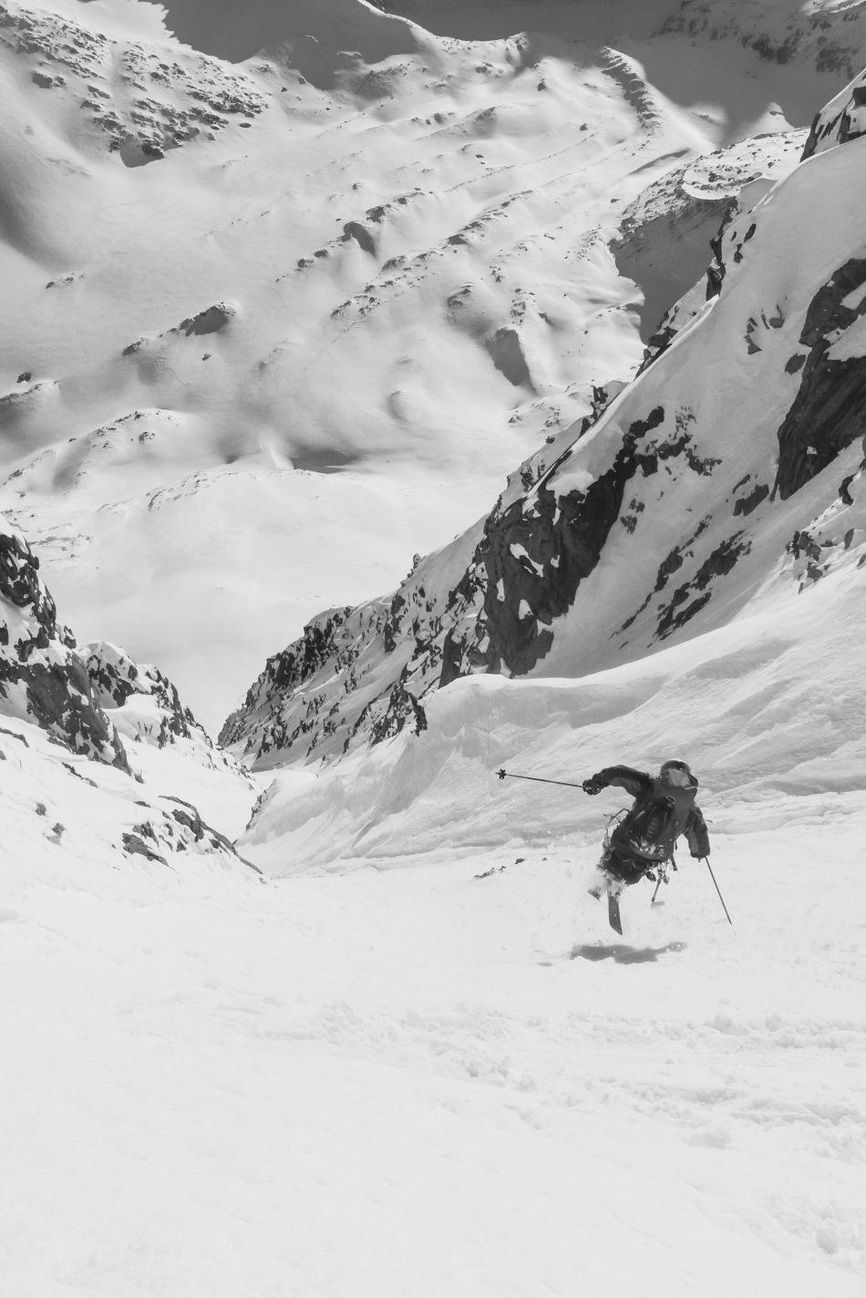 aiguille du midi, ryan boyer, steep skiing, chamonix