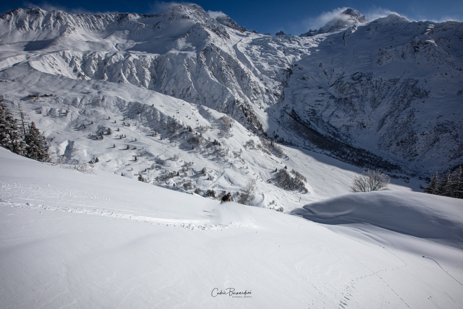 le tour, chamonix, france, powder